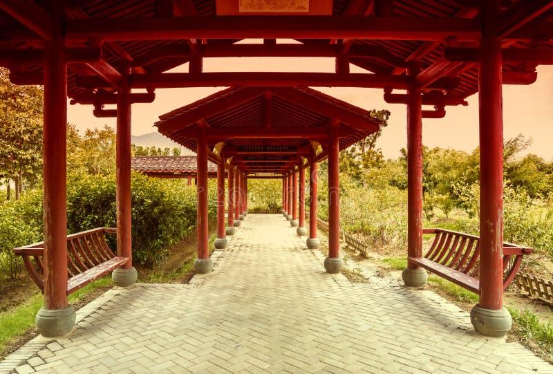 Китайская красная галерея стоковое фото rf