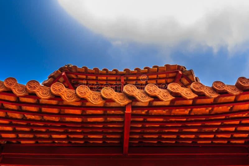 Китайская крыша виска стоковое фото rf