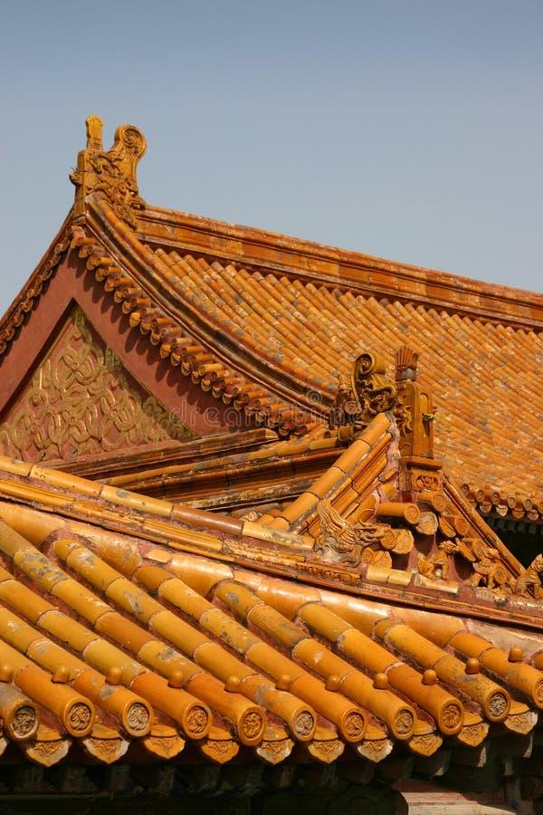 китайская крыша стоковое изображение rf