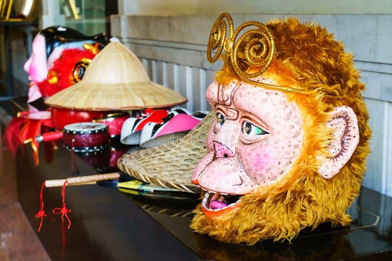Китайская маска бога короля обезьяны стоковая фотография rf