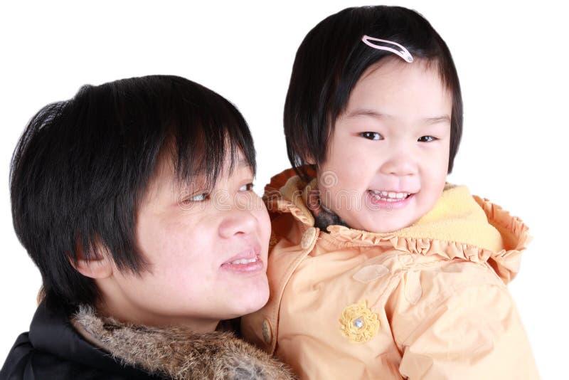 китайская мать дочи стоковая фотография