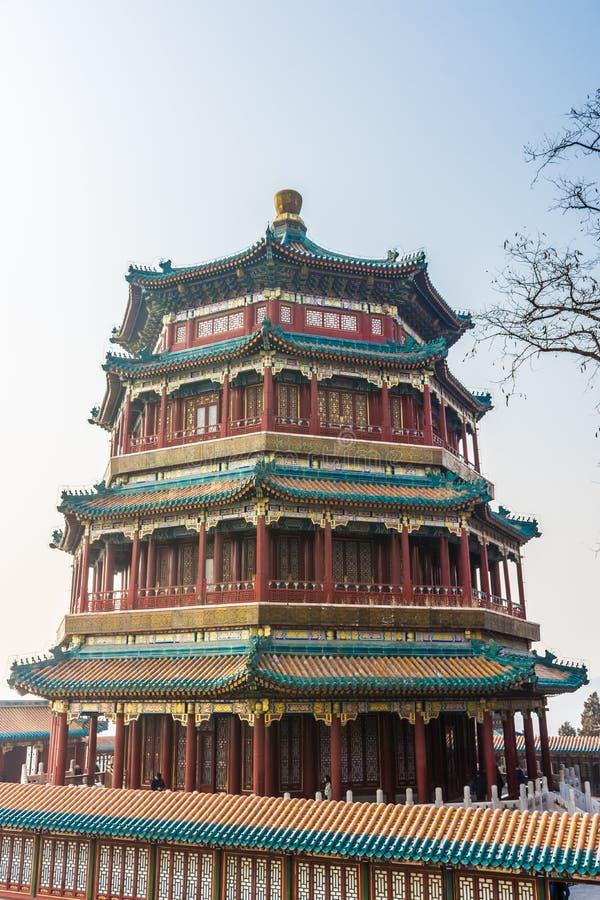 Китайская пагода в летнем дворце, Пекин стоковое фото