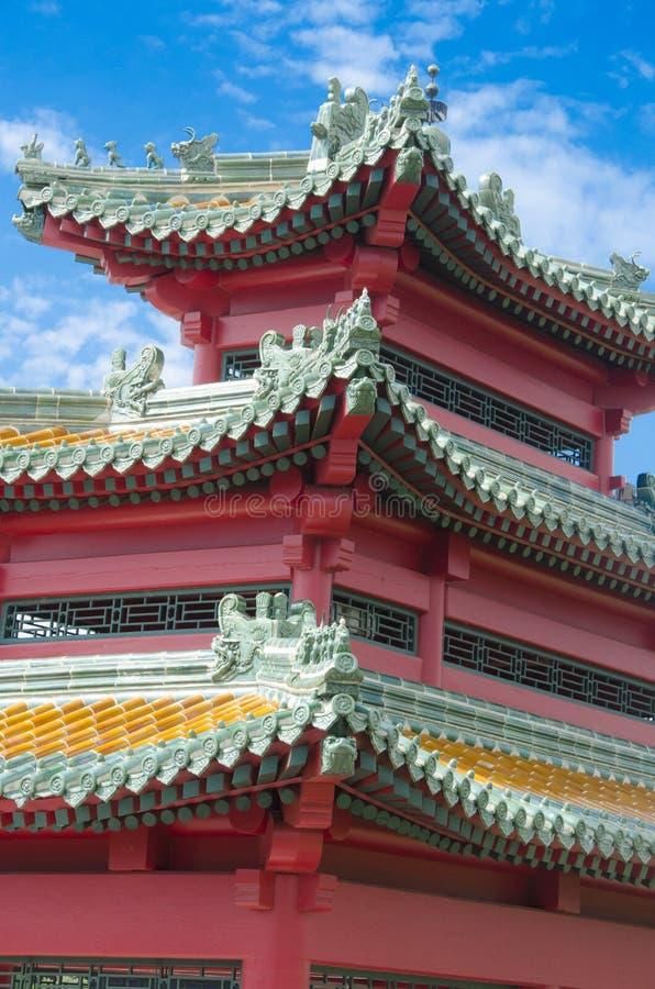 Китайская пагода - Des Moines Айова стоковая фотография rf