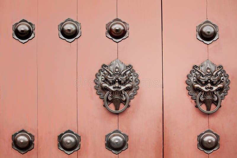 Китайская ручка двери стоковые изображения