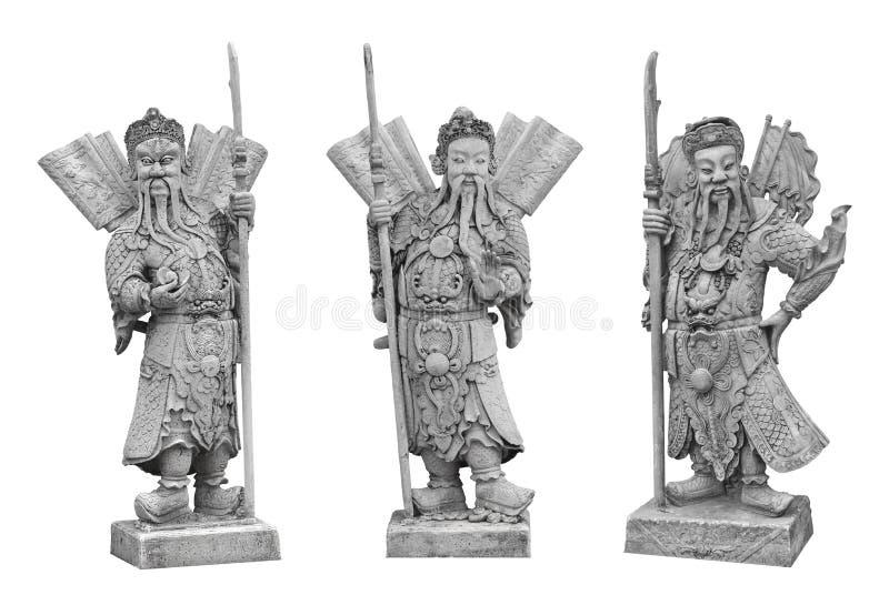 Китайская скульптура камня воина на виске Wat Pho, Бангкоке стоковые изображения rf