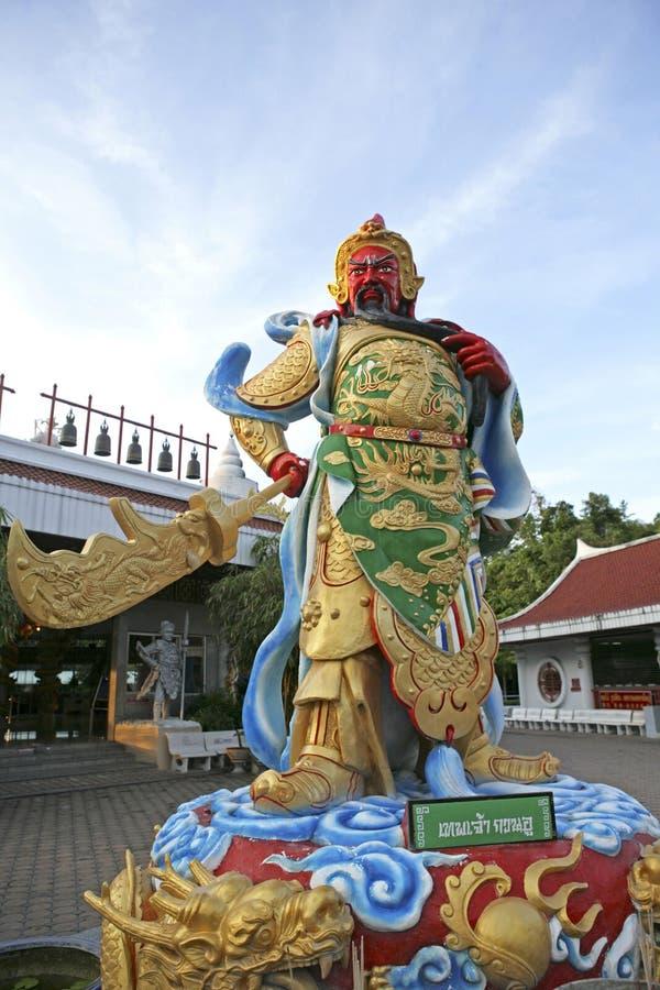 Китайская скульптура на парке муниципалитета города в Hatyai стоковое фото