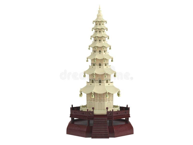 китайская статуэтка дома иллюстрация штока