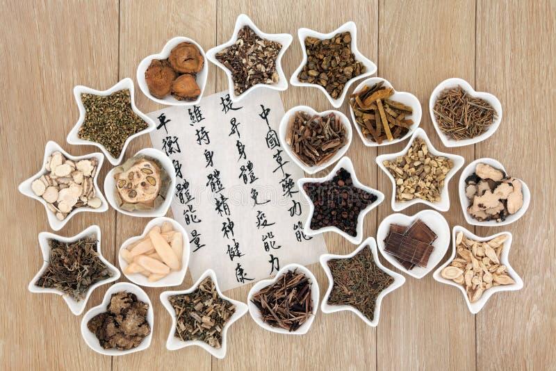 китайская травяная микстура стоковая фотография