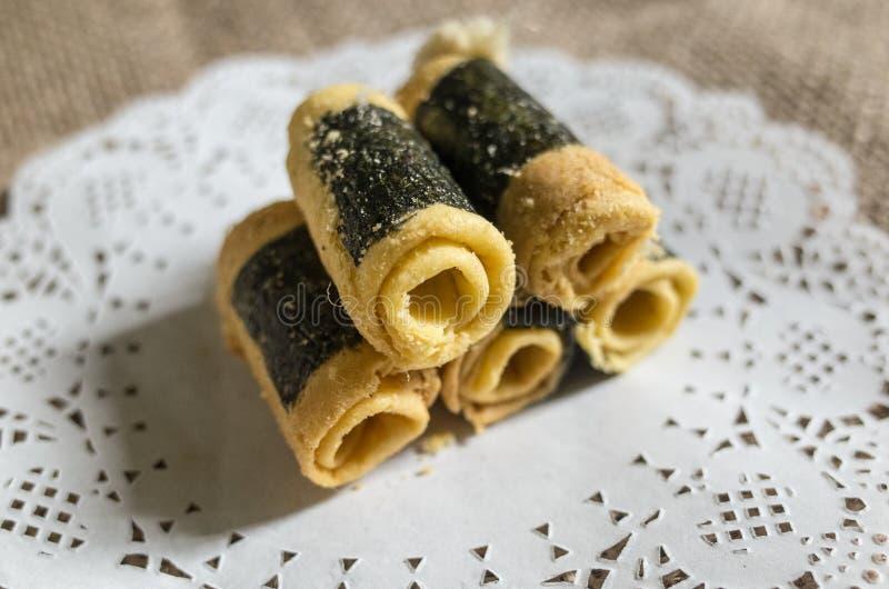 Китайская традиционная еда яичных рулетиков стоковое изображение