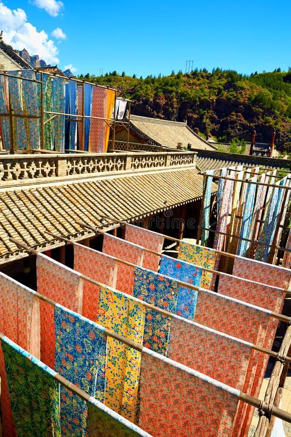 Китайская традиционная крася фабрика стоковые фото