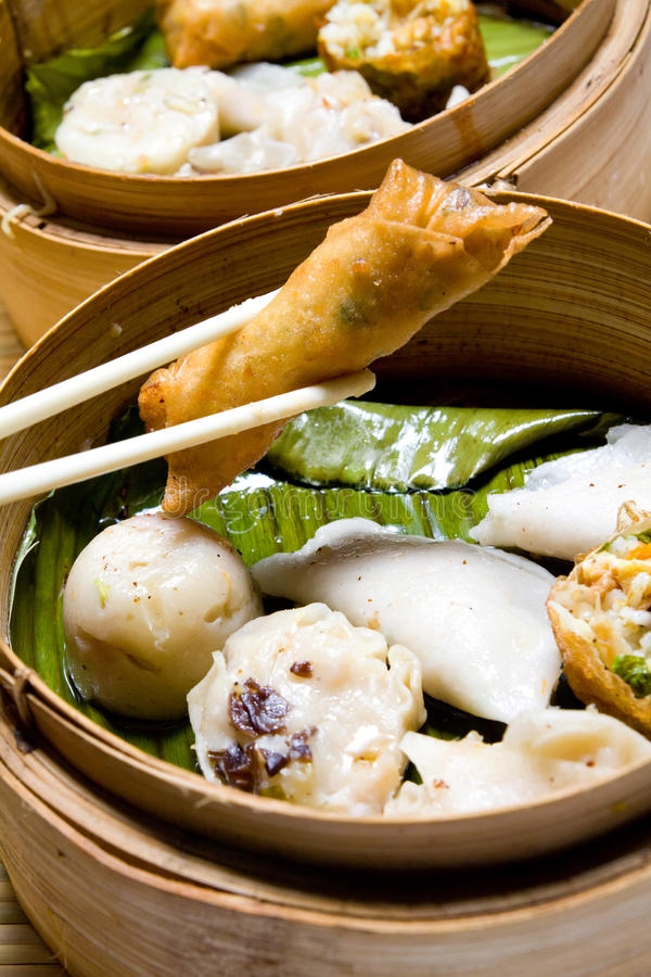 китайская тусклая сумма еды стоковые изображения