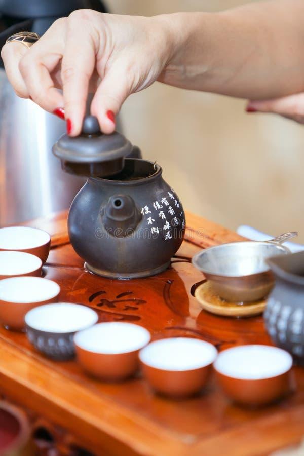 Китайская церемония чая стоковое фото
