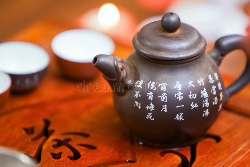 Китайская церемония чая стоковая фотография rf
