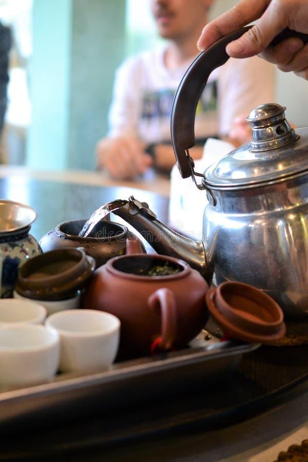 Китайская церемония чая taiwan Бак чая, чашки стоковые изображения rf