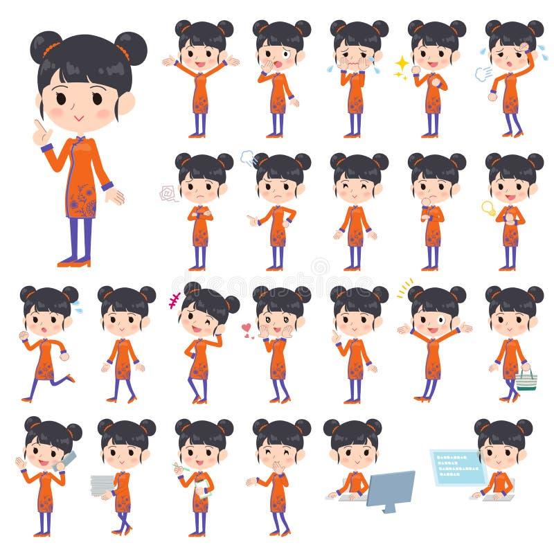 Китайская этническая женщина одежды бесплатная иллюстрация