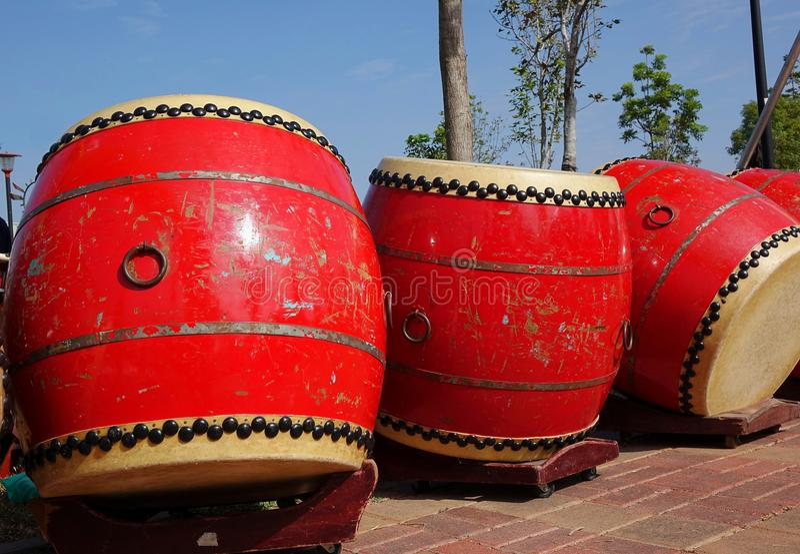 китайские барабанчики большие стоковое изображение