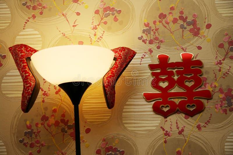 Китайские ботинки свадьбы стоковые фотографии rf
