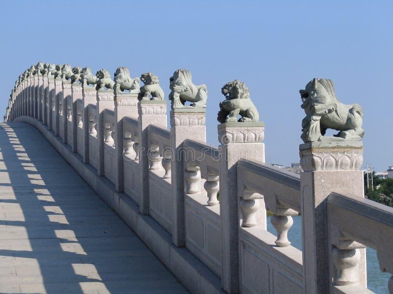 китайские львы стоковое изображение