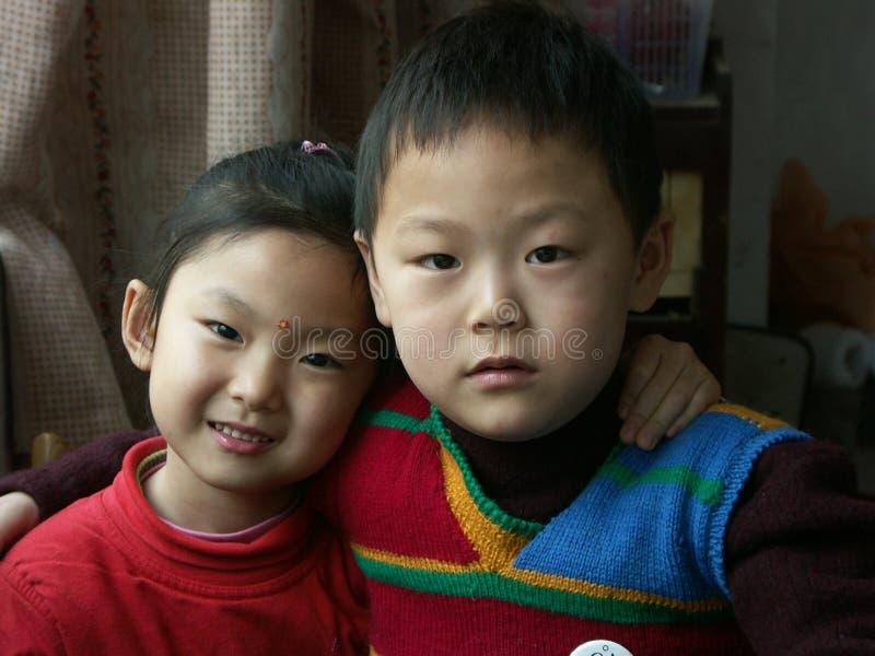 китайские малыши стоковые изображения
