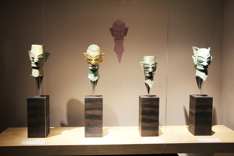 китайские маски стоковая фотография