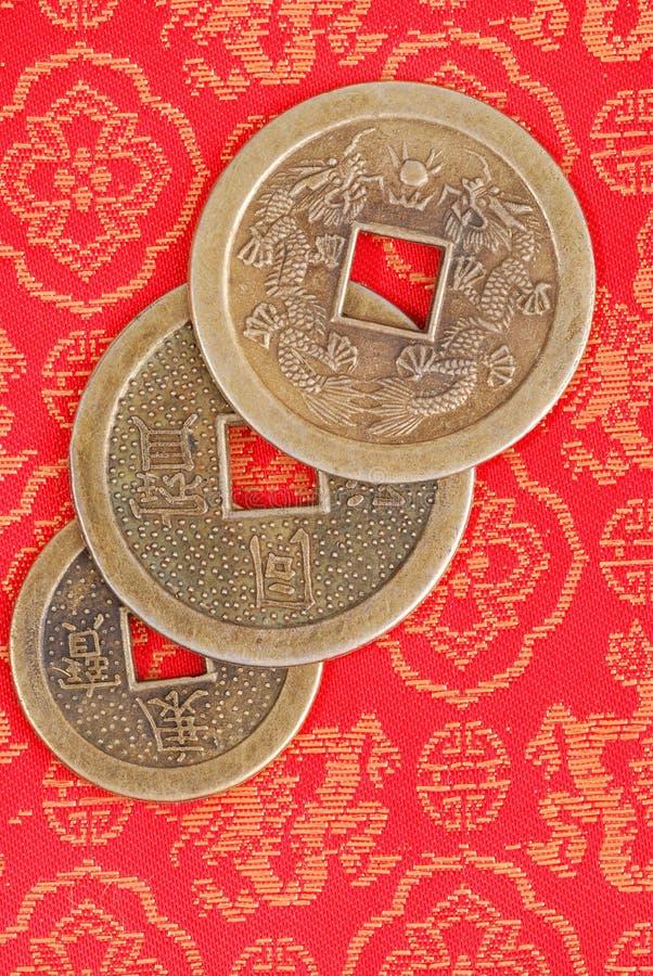 китайские монетки стоковое изображение