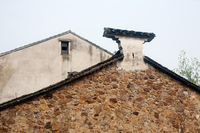 Китайские дома характеристик стоковая фотография rf