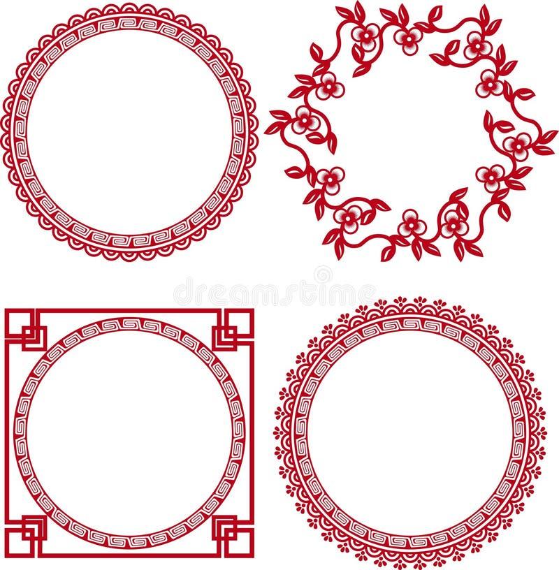 Китайские орнаментальные рамки бесплатная иллюстрация