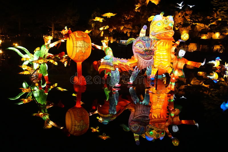 китайские драконы стоковое фото rf