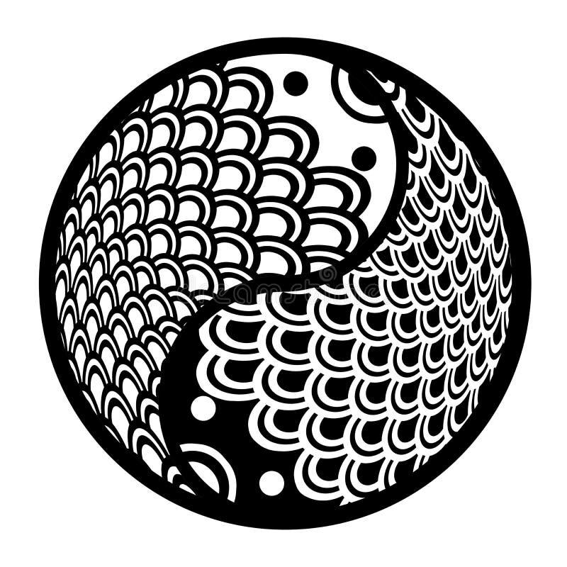 китайские рыбы круга спаривают yin yang бесплатная иллюстрация