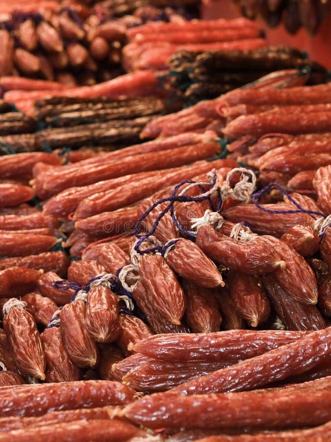 китайские сосиски стоковые фото