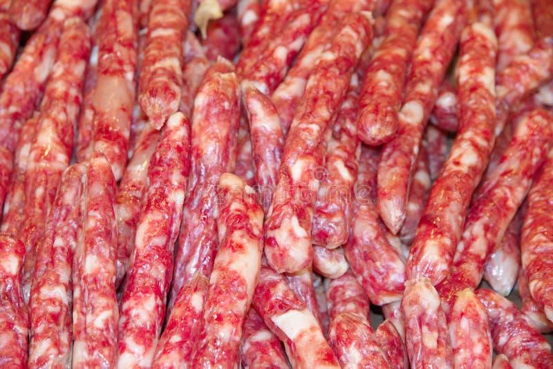 китайские сосиски стоковая фотография