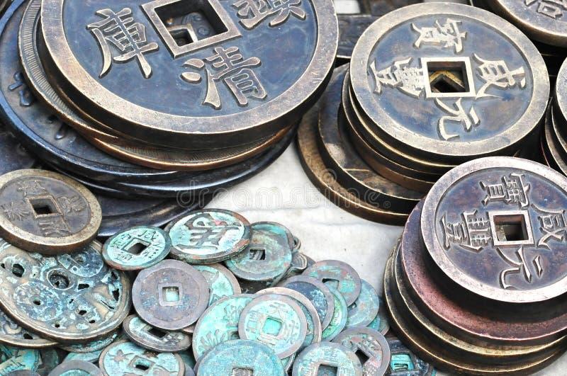Китайские стародедовские деньги стоковые фотографии rf