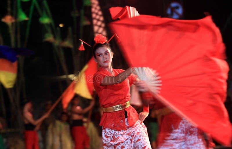 китайские танцоры стоковая фотография rf