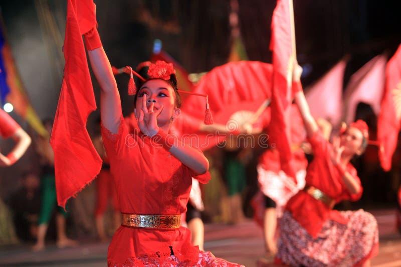 китайские танцоры стоковые изображения rf