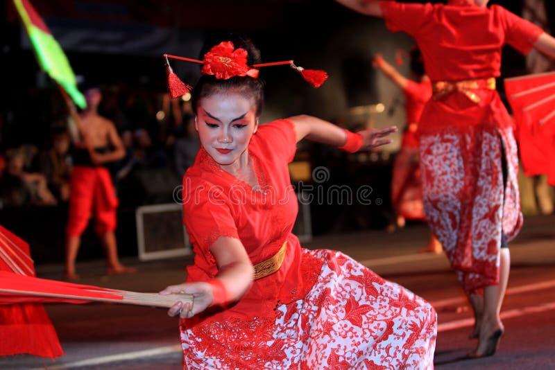 китайские танцоры стоковые фото