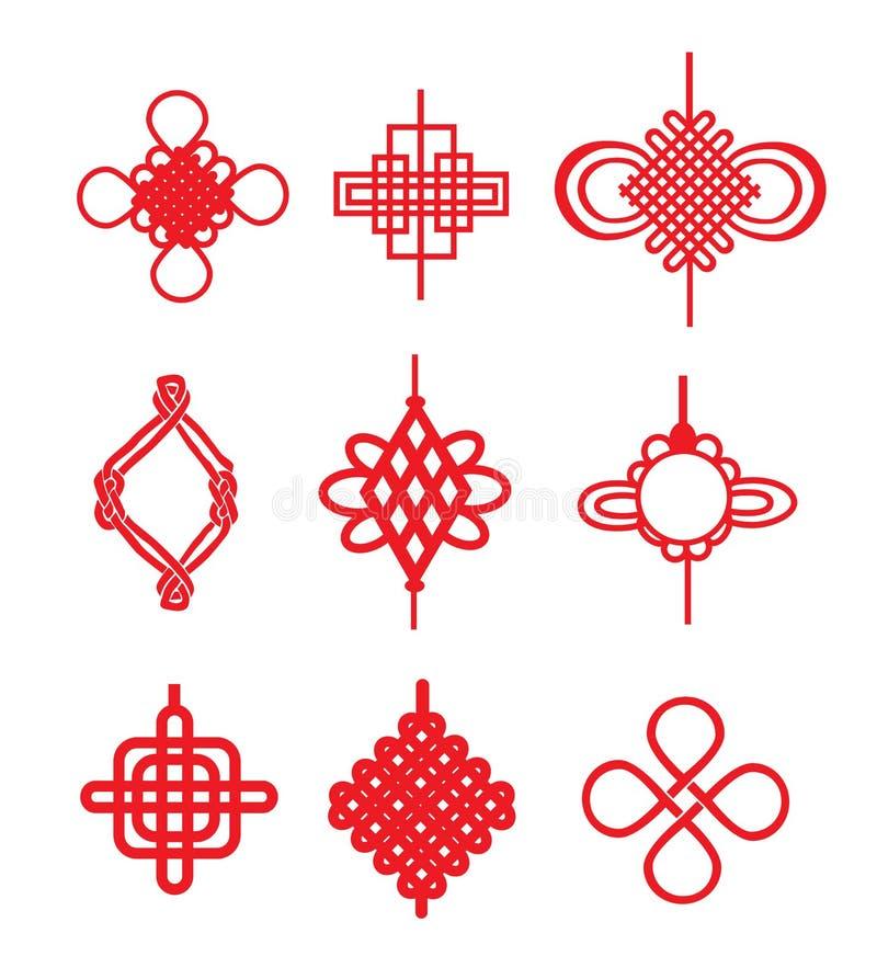 Китайские узлы иллюстрация вектора