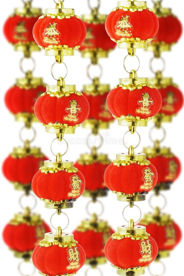 китайские фонарики завертывают красный цвет в бумагу стоковая фотография rf