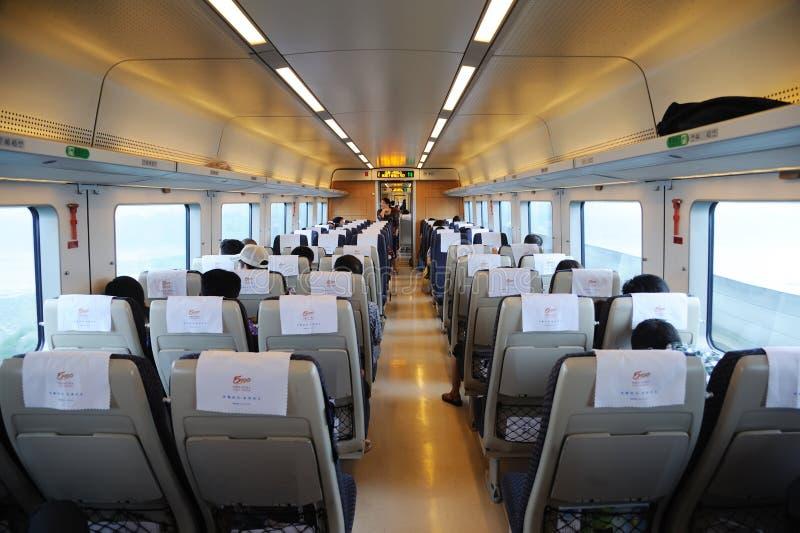 китайский быстрый нутряной поезд стоковое изображение rf