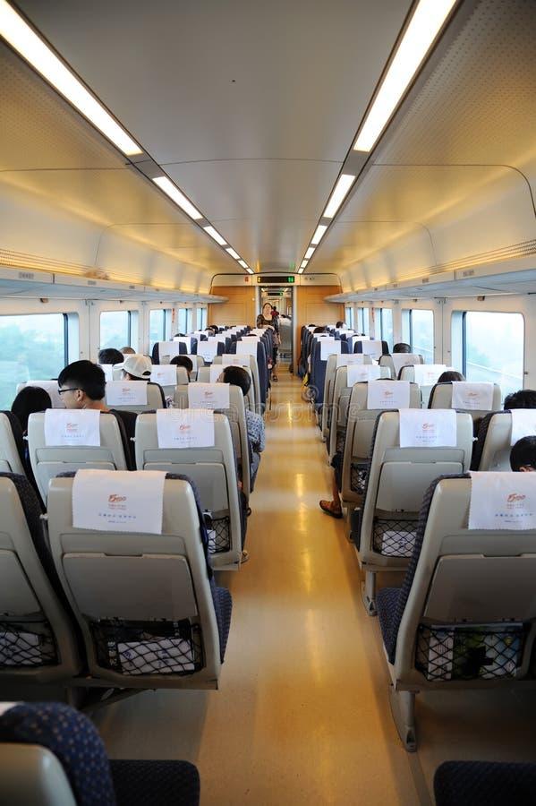 китайский быстрый нутряной поезд стоковая фотография