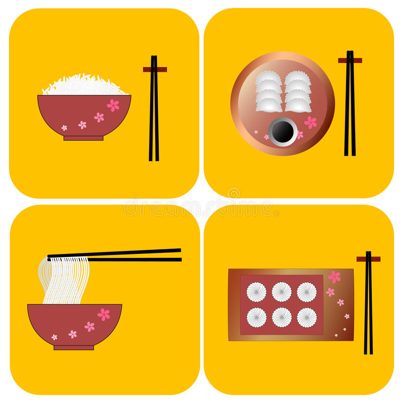 Китайский вектор еды бесплатная иллюстрация