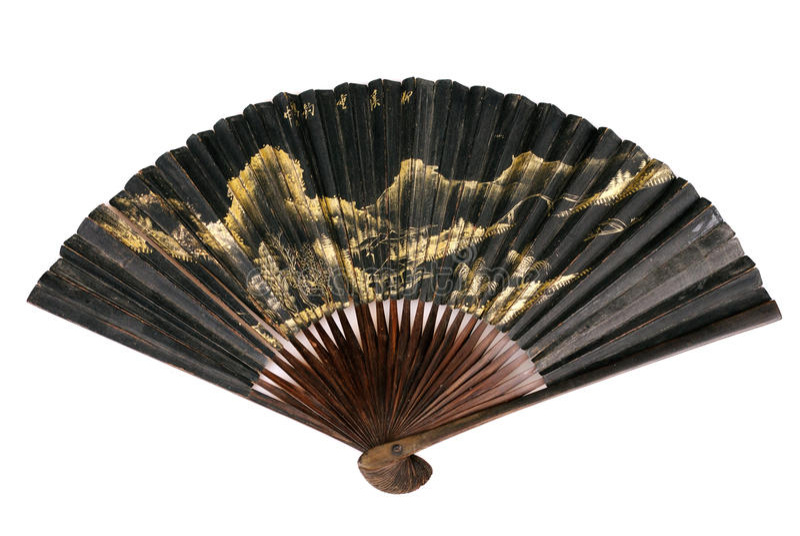 китайский вентилятор старый стоковая фотография