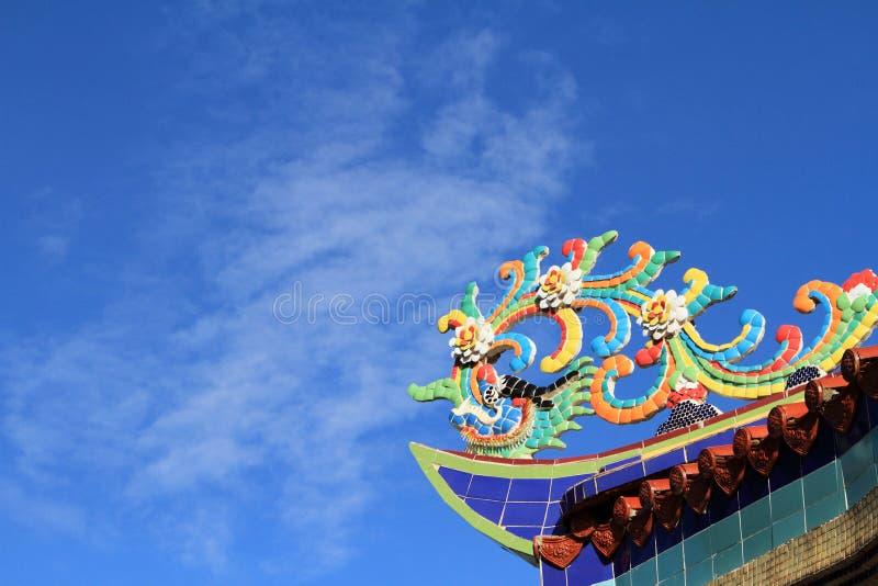 китайский висок крыши стоковое фото