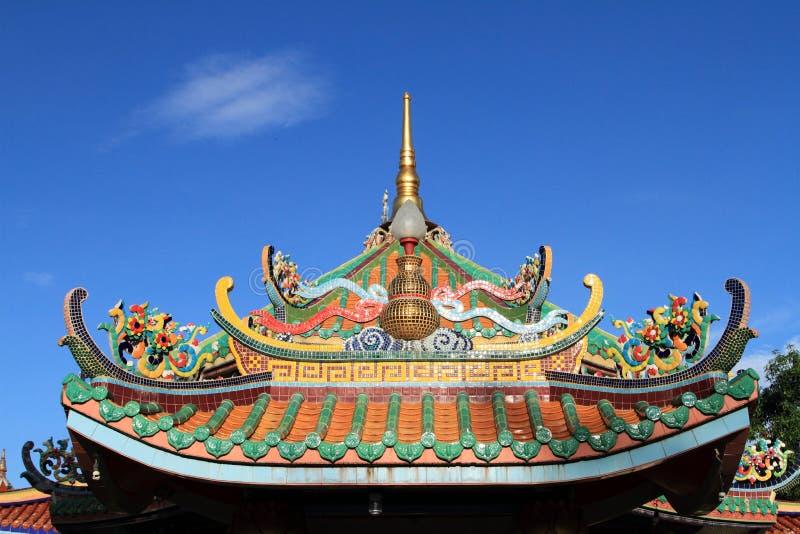 китайский висок крыши стоковая фотография rf