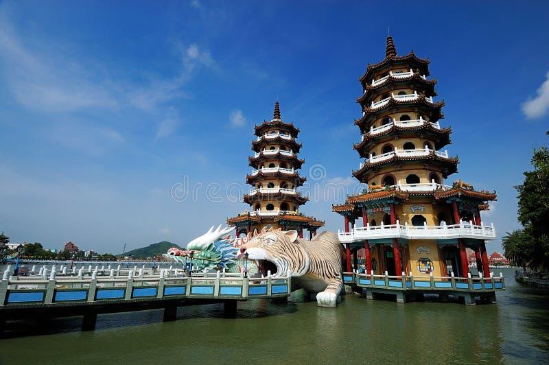 китайский висок озера стоковое фото rf