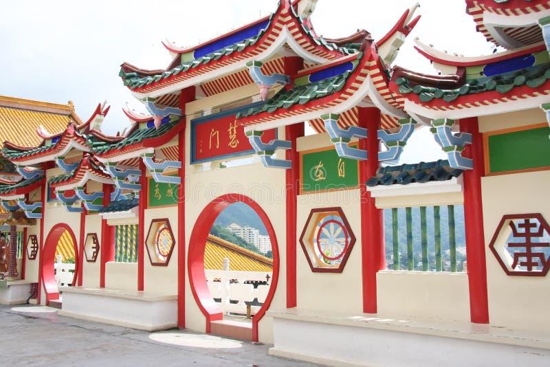 китайский висок шлюза стоковое изображение