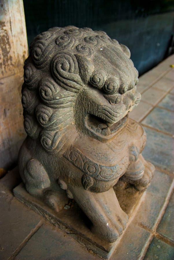 Китайский лев попечителя, собака Fu, лев Fu, Бангкок стоковое изображение