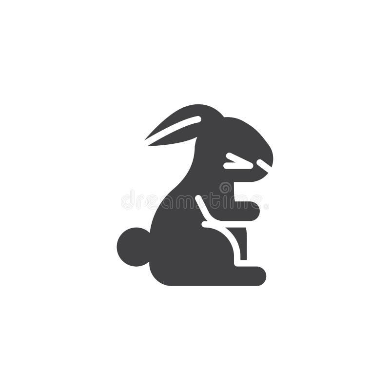 Китайский значок вектора кролика зодиака иллюстрация штока