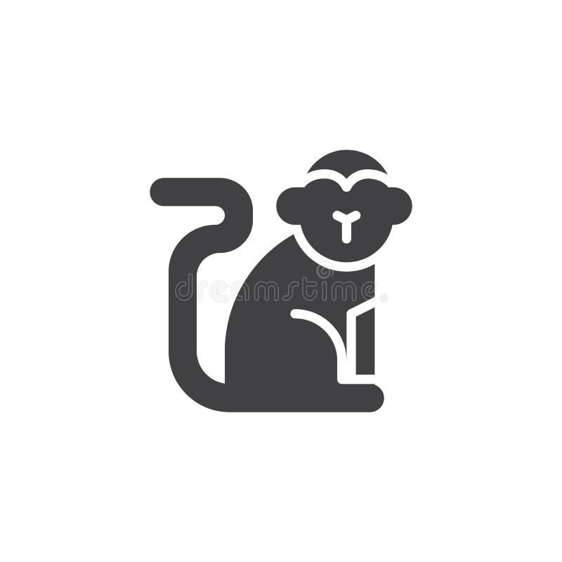 Китайский значок вектора обезьяны зодиака бесплатная иллюстрация