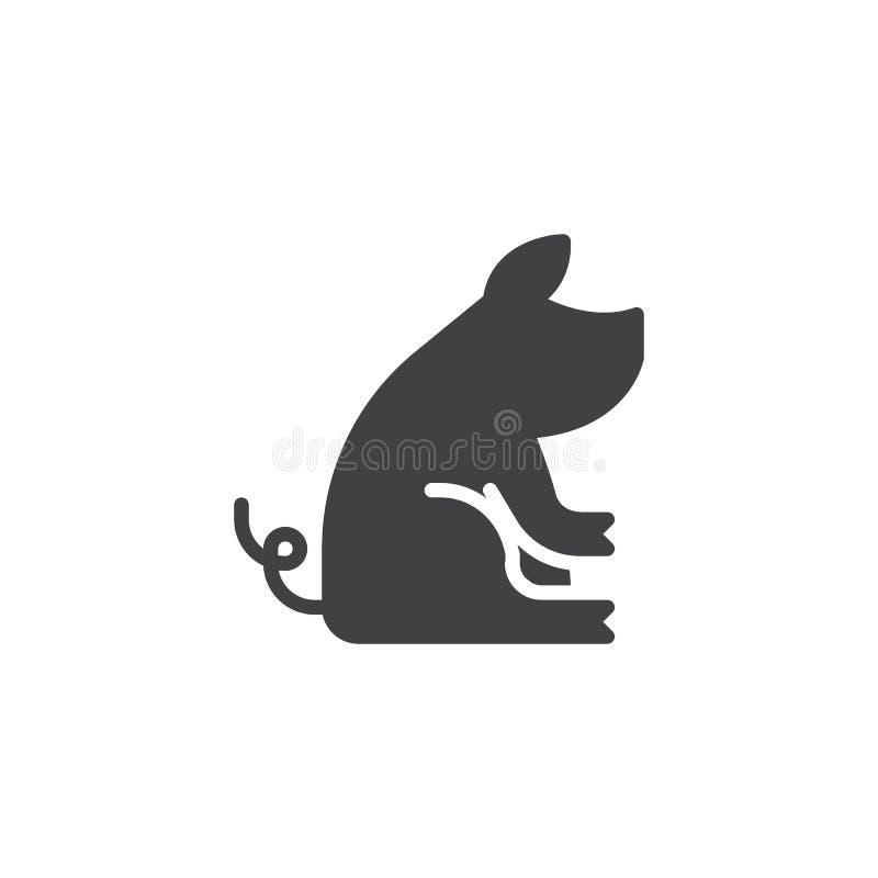 Китайский значок вектора свиньи зодиака иллюстрация штока