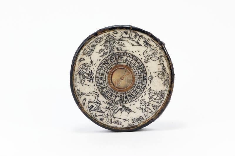 китайский компас старый стоковая фотография